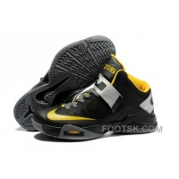 NIKE ZOOM Soldier VI James Soldier Black Gray Yellow NZH0597 For Sale