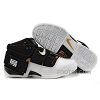NIKE ZOOM Soldier VI James Soldier White Black Gold NZH0608 Free Shipping