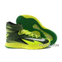 New Release Nike Zoom Hyperrev KYRIE IRVING Black/Metallic Silver/Electric Green
