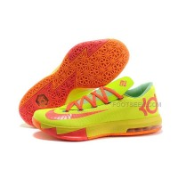 Nike Zoom KD 6 Green-Orange-Yellow Discount Online