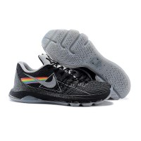 "Discount 2015 New KD 8 Shoes ""Dark Side Of The Moon"" Black Grey Cheap Sale"