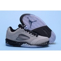 Nike Air Jordan 5 Low Wolf Grey Men Discount HNPD Dw5e