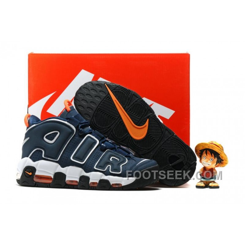 Nike Air More Uptempo OG Dark Obsidian/Orange-White PYmXD ...