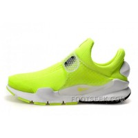Nike X Fragment Design Sock Dart SP Fluorescent Green White Free Shipping