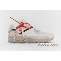 Free Shipping 39-46 Sku Aa7293-100 Off-White X Nike Air Max 90 Ofw Off90 Classic Running Shoes With Limited Zoom