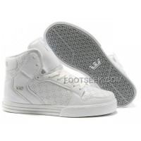 Online New Supra Vaider All White Men's Shoes