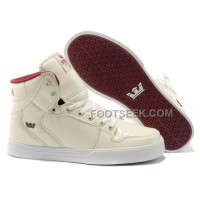 Online New Supra Vaider Beige Red Men's Shoes