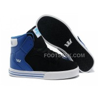 Online New Supra Vaider Black Blue Men's Shoes
