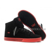 Online New Supra Vaider Black Red Men's Shoes