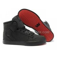 Online New Supra Vaider Black Red Sole Men's Shoes