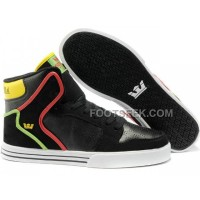 Online New Supra Vaider Black Red Yellow Green Men's Shoes