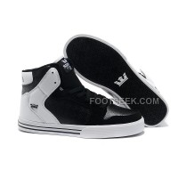 Online New Supra Vaider Black White Men's Shoes