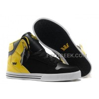 Online New Supra Vaider Black Yellow Men's Shoes