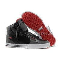 Online New Supra Vaider Grey Black Red Men's Shoes