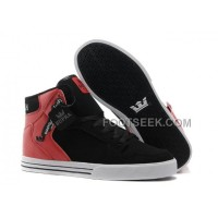 Online New Supra Vaider Red Black Men's Shoes