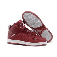 Online Supra S1W Wine Red White Men's Shoes