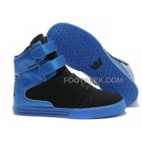 Online Supra TK Society Black Blue Men's Shoes