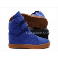 Online Supra TK Society Blue Chocolate Men's Shoes