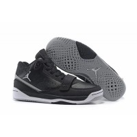 Free Shipping Men Jordan Phase 23 Classic Black Grey Basketball Shoes