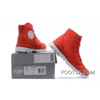 Palladium Women Shoes Red White New Style