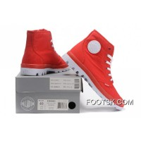 Palladium Men Shoes Red White New Style