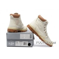 Palladium Men Shoes White Brown New Release