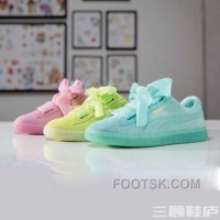 Puma BASKET 363073 Bow Tie Jelly Summer Mint Yellow Pink Super Deals
