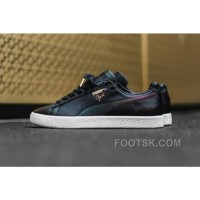 New Style PUMA Clyde CYN 363637 01 Black Leather Metallic Signature