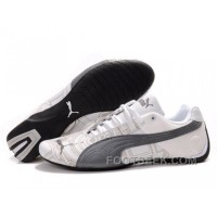 Mens Puma Future Cat Carve White Grey