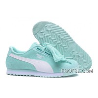 New Style PUMA Roma TK Graphic Womens Light Blue Butterfly Shoes Basket