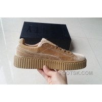 Puma By Rihanna Suede Creepers 36-44 Khaki Velvet Cheap To Buy