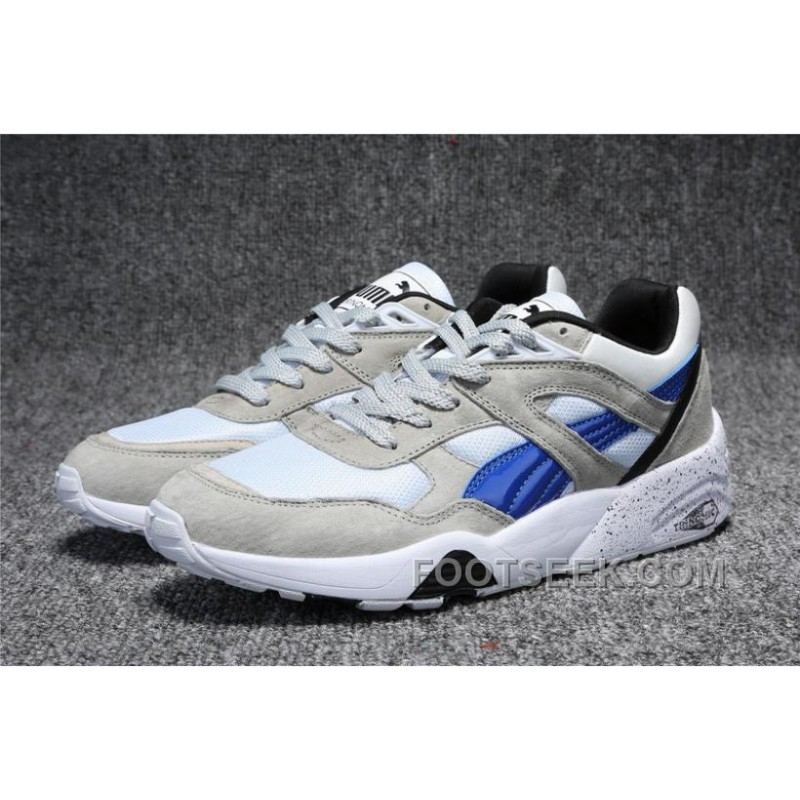 puma trinomic r698 white grey blue running shoes price discount authentic shoes. Black Bedroom Furniture Sets. Home Design Ideas