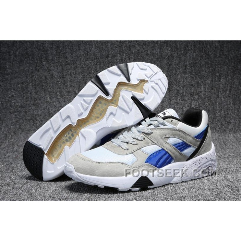 sports shoes f0a75 5ec5d Puma Trinomic R698 White Grey Blue Running Shoes .