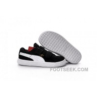 Puma Kids Black White Shoes 2016 Fall Suede Children Shoes