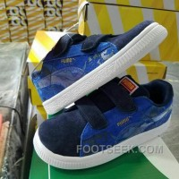Puma Kids Shoes Blue Superman