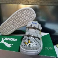 Puma Kids Shoes Grey Tom Cat Cartoon