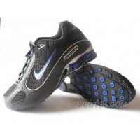 Men's Nike Shox Monster Shoes Black/Blue/Silver Online