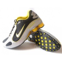 Men's Nike Shox Monster Shoes Black/White/Yellow New Release