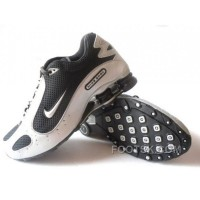 Men's Nike Shox Monster Shoes White/Black Free Shipping