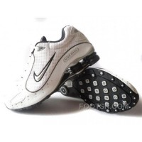 Men's Nike Shox Monster Shoes White/Black/Silver Online