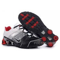Men's Nike Shox NZ Shoes Black/Grey/Silver/White/Red Authentic