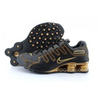Men's Nike Shox NZ Shoes Black/Yellow/Gold Cheap To Buy