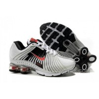 Kid's Nike Shox R4 Shoes White/Black/Red For Sale