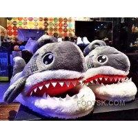 GREY SHARKS SLIPPERS WINTER WARM SLIPPER GRAY FASHION SLIPPER INSTAGRAM SLIPPER Xmas Deals