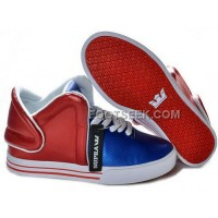 Supra Falcon Red Blue White Men's Shoes Discount