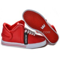 Supra Falcon Red White Men's Shoes Discount