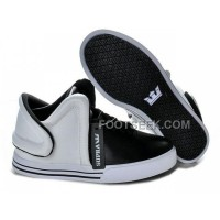 Supra Falcon White Black Men's Shoes Discount