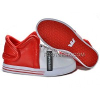 Supra Falcon White Red Men's Shoes Discount