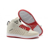 Supra S1W Beige Red Men's Shoes Discount