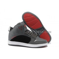 Supra S1W Grey Black Red Men's Shoes Discount